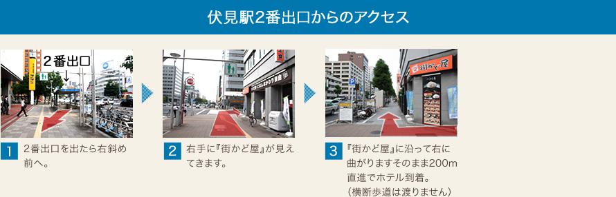 伏見駅2番出口からのアクセス