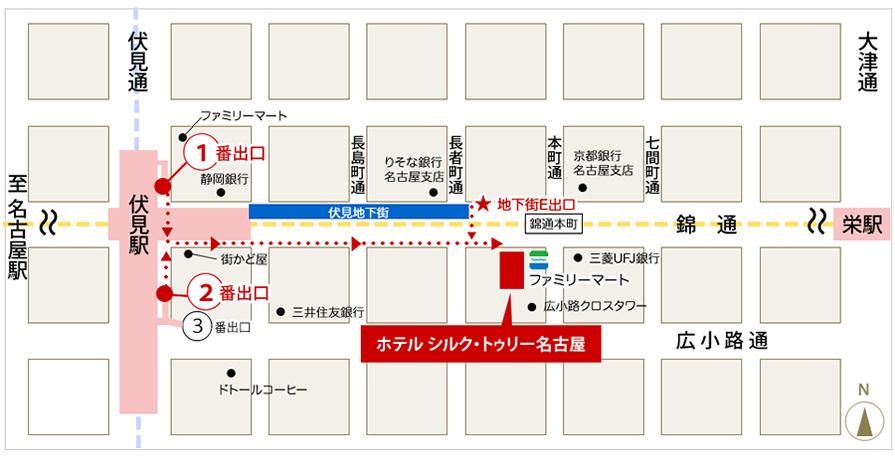 伏見駅からのアクセスマップ