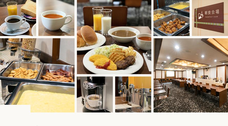 ホテル シルク・トゥリー名古屋の朝食写真です。