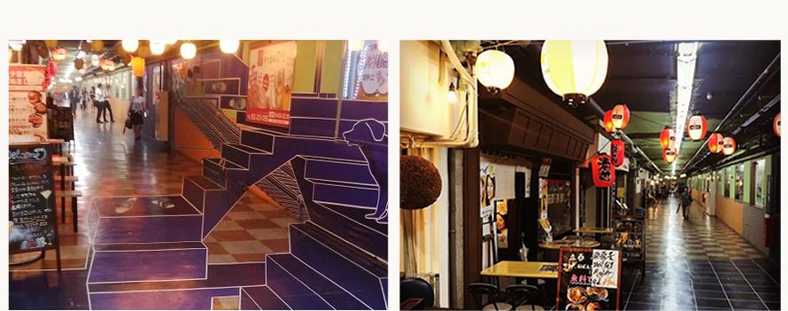 立ち飲み店など昭和の雰囲気